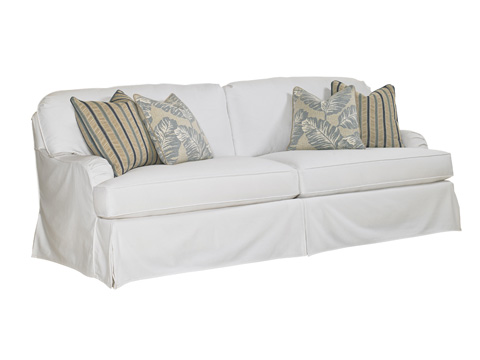 Lexington Home Brands - Stowe Slipcover Sofa in White - 7476-33WH