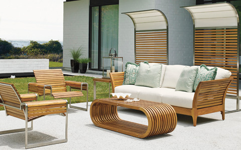 Tommy Bahama - Tres Chic Outdoor Seating Set - TRESLIVING1