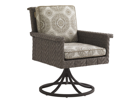 Image of Swivel Rocker Dining Chair