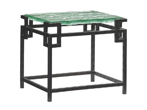 Image of Hermes Reef Glass Top End Table