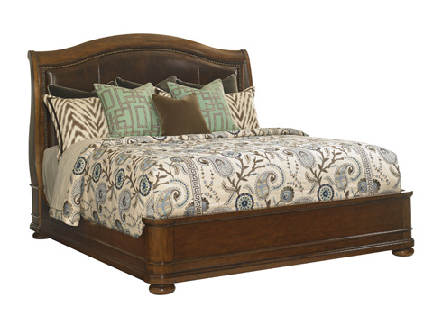 Image of Chandler Mills King Sleigh Bed