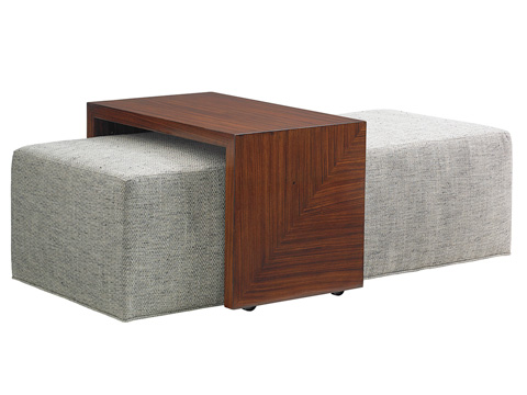 Lexington Home Brands - Broadway Cocktail Ottoman - 1784-25T