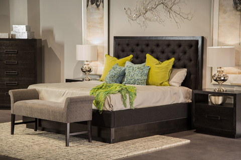 Image of Carrera Collection Queen Upholstered Bedroom Set