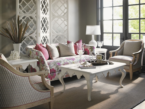 Image of Ivory Key Three Piece Living Room Collection