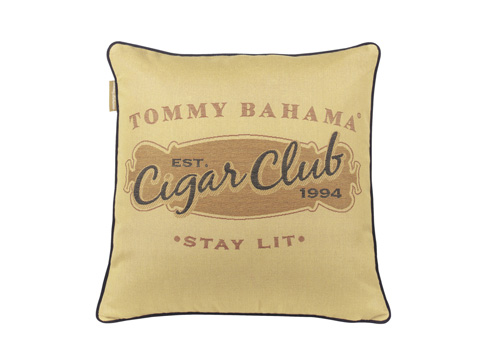 Image of Cigar Club Throw Pillow in Tobacco
