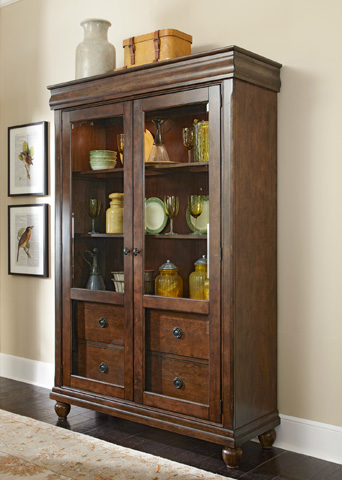 Image of Traditional Display Cabinet with Glass Doors