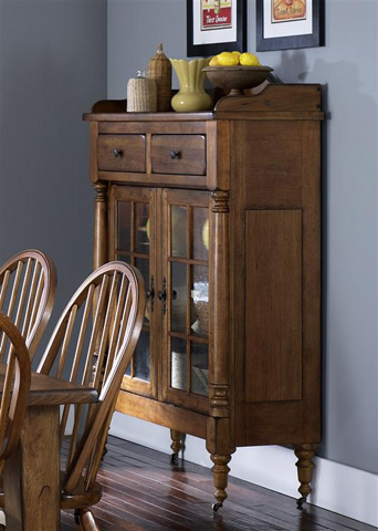 Liberty Furniture - Oak Glass Door Display Cabinet - 17-CH4866K