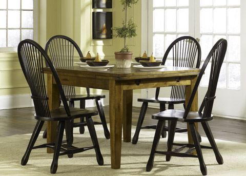 Image of Treasures 5 Piece Retractable Table Dining Set
