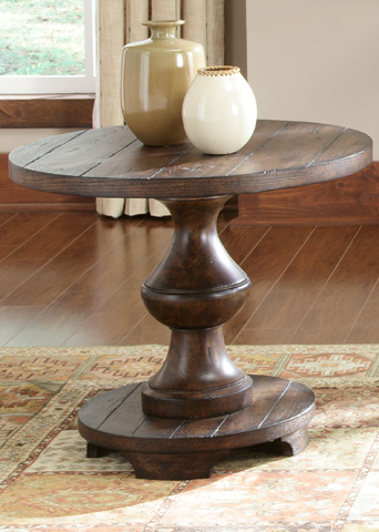 Image of Spanish Planked End Table