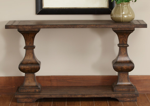 Image of Spanish Planked Sofa Table
