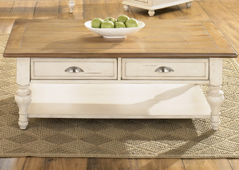 Liberty Furniture - Country Cottage Rectangular Cocktail Table - 303-OT1010
