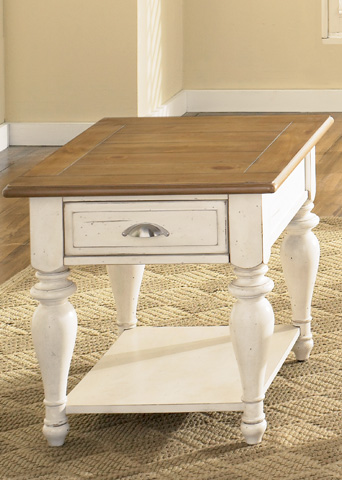 Image of Country Cottage Rectangular End Table