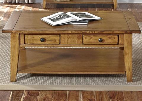 Liberty Furniture - Rectangular Cocktail Table in Oak - 17-OT1001