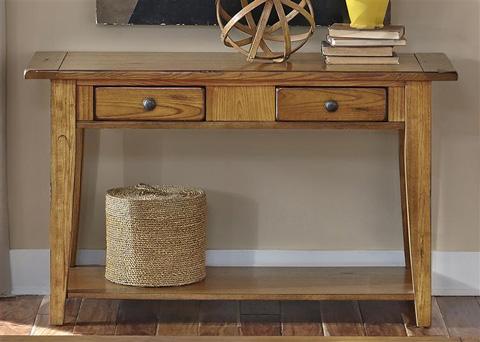 Liberty Furniture - Sofa Table in Oak - 17-OT1016