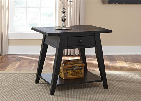 Liberty Furniture - Splay Leg End Table in Black - 17-OT4006