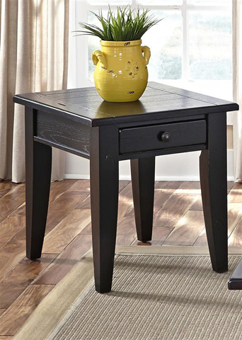Liberty Furniture - End Table in Black - 17-OT4007