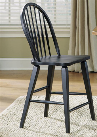 Liberty Furniture - Windsor Back Counter Chair in Black - 482-B100024