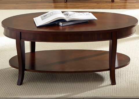 Liberty Furniture - Oval Cocktail Table - 748-OT1011