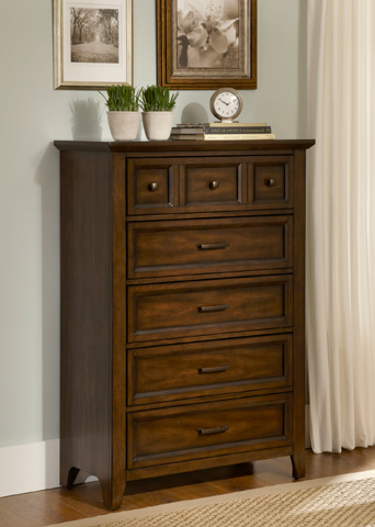 Liberty Furniture - Five Drawer Chest - 461-BR41