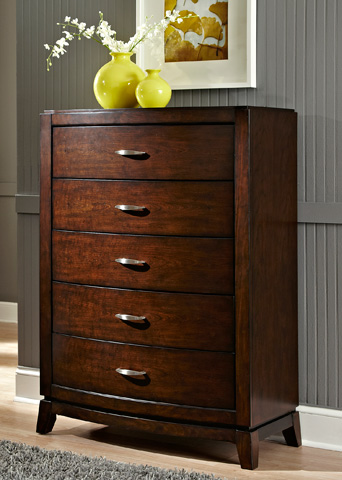 Liberty Furniture - Five Drawer Chest - 505-BR40