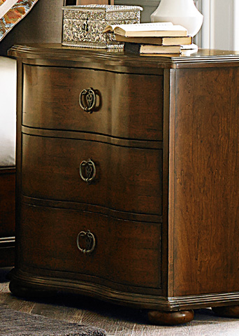Liberty Furniture - Three Drawer Nightstand - 545-BR61