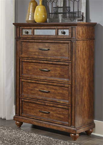 Liberty Furniture - Five Drawer Chest - 562-BR41