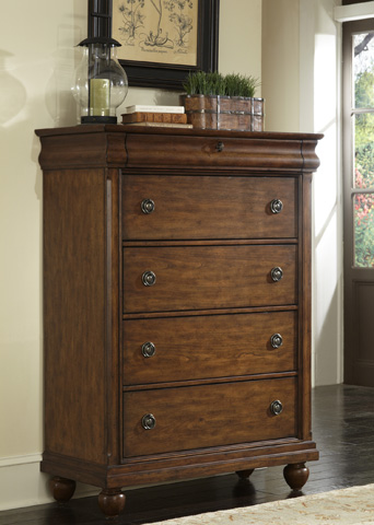 Liberty Furniture - Five Drawer Chest - 589-BR41