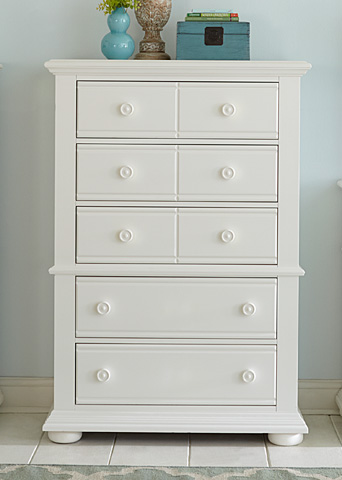 Liberty Furniture - Five Drawer Chest - 607-BR41