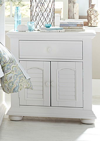 Image of Two Door One Drawer Nightstand