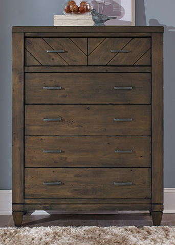 Liberty Furniture - Six Drawer Chest - 833-BR41