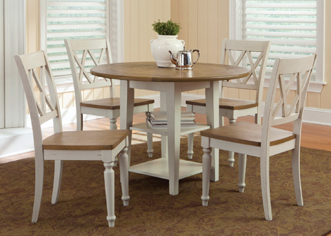 Liberty Furniture - Drop Leaf Leg Dining Table - 841-T4242