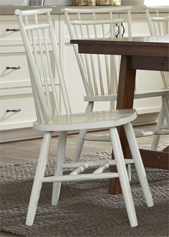 Image of Spindle Back Side Chair in White