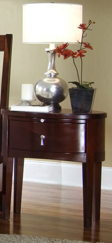 Image of One Drawer Oval Nightstand