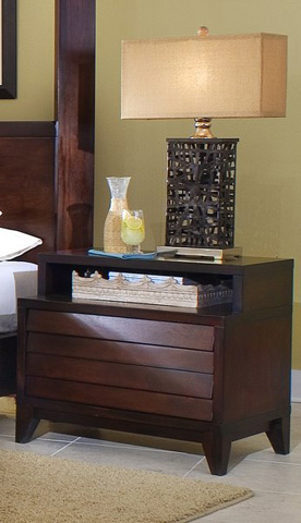 Ligna Furniture - Two Drawer Nightstand - 6822
