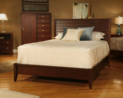 Image of Queen Louvered Bed