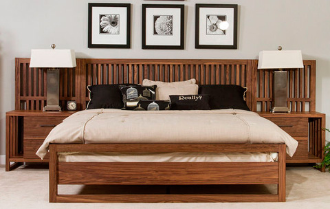 Image of Queen Slat Bed