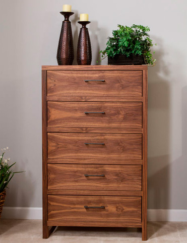 Image of Five Drawer High Chest