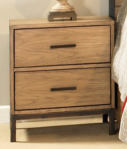 Ligna Furniture - Two Drawer Nightstand - 9522