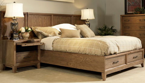 Image of King Panel Storage Bed