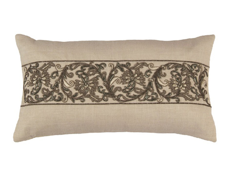 Lili Alessandra - Kasmir Small Rectangle Pillow - L1412RWH