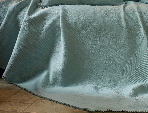 Image of Battersea Seafoam Quilted Bedspread