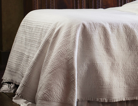 Image of Battersea Ivory Quilted Bedspread