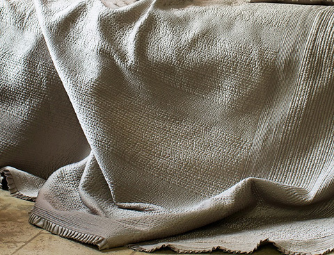 Image of Battersea Taupe Quilted Bedspread
