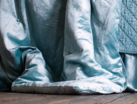 Image of Chloe Seafoam Velvet Comfortlet
