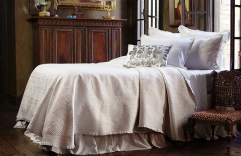 Image of Battersea Quilted in Ivory Bedding Package