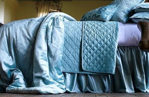 Lili Alessandra - Chloe Seafoam Velvet Bedding Package - CHLOESET6