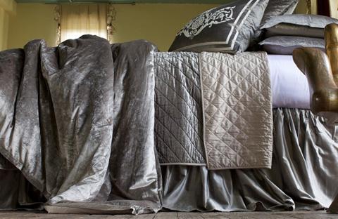 Image of Chloe Silver Velvet Bedding Package