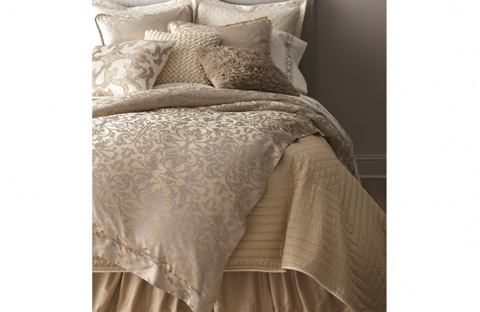 Image of Jackie Champagne-Silver Jacquard Bedding Package