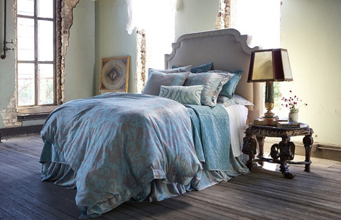 Image of Mackie Taupe with Seafoam Bedding Package