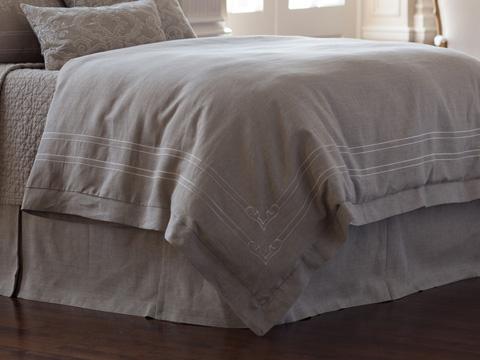 Image of CasablancaStone Linen Duvet Cover